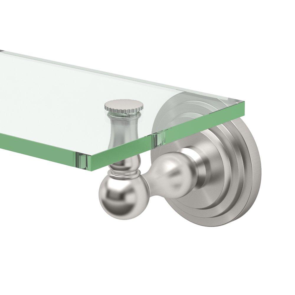 Gatco 5850 Marina Glass Shelf, Satin Nickel