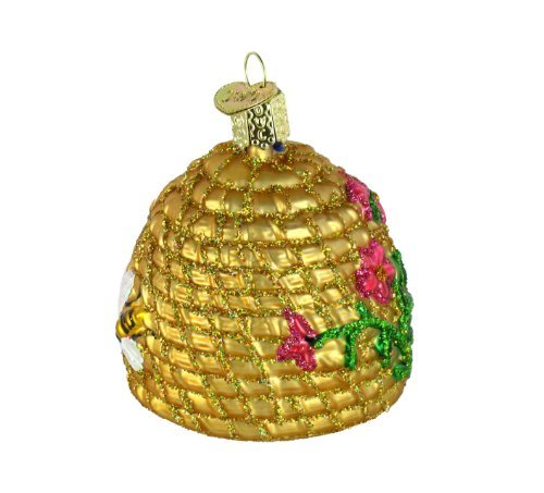 Old World Christmas Ornaments: Bee Skep Glass Blown Ornaments for Christmas Tree by Old World Christmas (Image #2)
