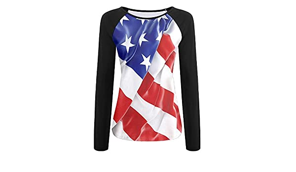 MASDUIH 3D Print Blue Thin Line Flag Long Sleeve Shirt Baseball Shirt
