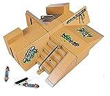 Kidsdreams 8pcs Skate Park Kit Ramp Parts for Tech Deck Fingerboard Mini Finger Skateboard Fingerboards Ultimate Parks with 3PCS Finger Boards