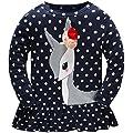 Hugbug Toddler Girls Long Sleeve Deer T-Shirt 2-7T
