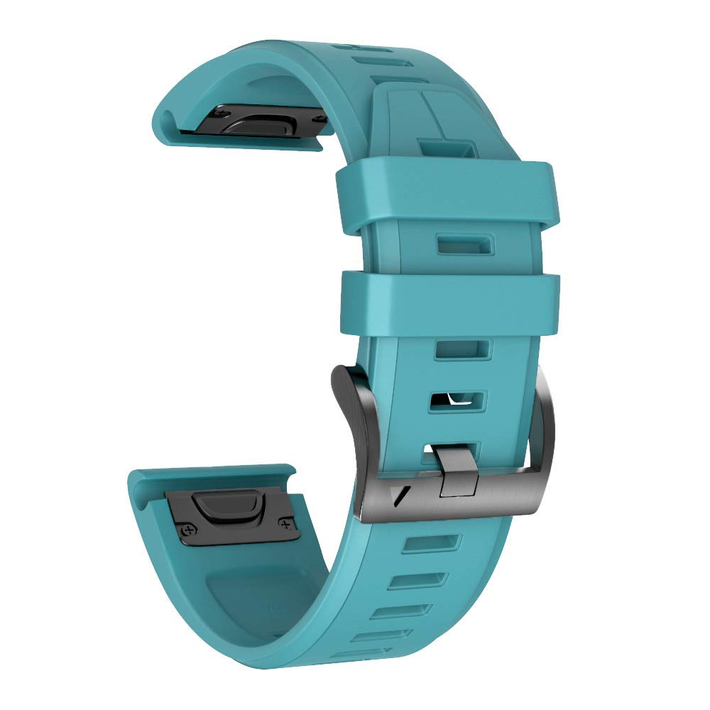 ANCOOL Compatible Fenix 5X Plus Band 26mm Easy Fit Silicone Smartwatch Bands Replacement for Fenix 6X/Fenix 6X Pro/Fenix 5X/Fenix 5X Plus/Fenix 3/Fenix 3 HR (Rock Blue) by ANCOOL