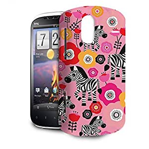 Phone Case For HTC Amaze 4G - Zebra Blossoms Pink Back Hardshell wangjiang maoyi