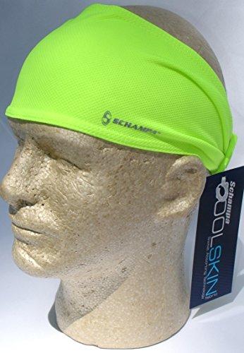 (Schampa Doo-z Cool Skin Head Wear Wrap Neon Yellow Biker Bandanna, One Size Biker Head Wrap )