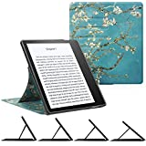 """CaseBot Stand Case for Kindle Oasis (9th Gen, 2017 Release ONLY) - Slim Fit Multi Angle Hands-free Viewing Cover with Auto Sleep/Wake for Amazon All-New 7"""" Kindle Oasis E-reader, Blossom"""