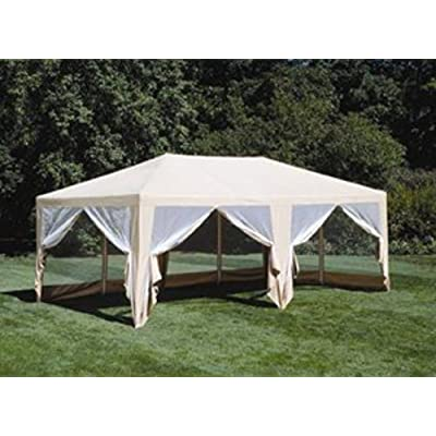 Formosa Covers Extra Large Deluxe Screen House Canopy Shade and Mosquito Protection for Everyday Outdoor Entertaining, Camping and Party Tent - Beige 12'x20' : Outdoor Canopies : Garden & Outdoor