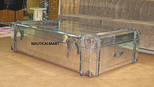 NauticalMart Richardu0027s Aluminum Trunk Coffee Table For Sale Delivered  Anywhere In USA