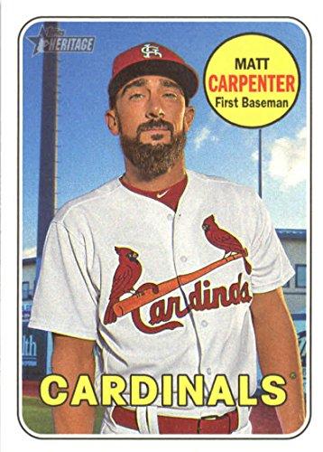 (2018 Topps Heritage #18 Matt Carpenter St. Louis Cardinals Baseball Card)