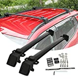 Partol Roof Rack Cross Bars for Jeep Compass 2011-2016, Rooftop Crossbars Luggage Carrier for Canoe Kayak Snowboard Bike (1 Pair, Black)
