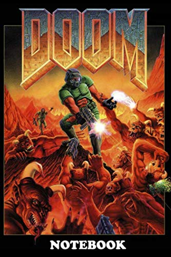 Notebook: Poster Doom Retro Game Pc , Journal for Writing, College Ruled Size 6
