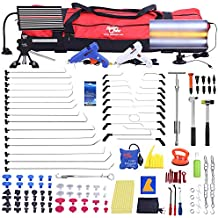 Fly5D PDR Rods Dent Puller Auto Body Hail Damage and Door Dings Repair Whole Tools Set for Car,Motorcycle,Refrigerator,Washing Machine,Truck