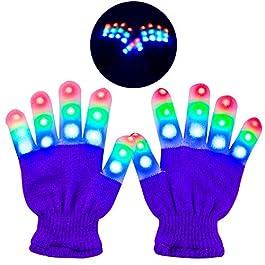 Charlemain blinkende Led Handschuhe für Halloween, Konzert