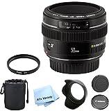 Canon EF 50mm f/1.4 USM Premium Lens Bundle- International Model
