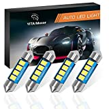 #3: 6418 led Bulb, YITAMOTOR 4 Pcs 36mm 1.5 Inch 8 SMD 3528 Canbus Error Free Festoon LED Bulb for Interior Car Lights Dome Map License Plate Trunk Light 6411 6413 6418 DE3423, Color White