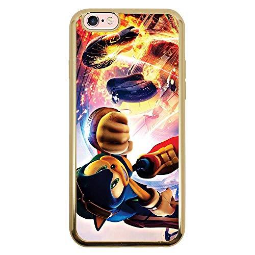 Capa Intelimix Intelislim Dourado Apple iPhone 6 6s Games - GA33