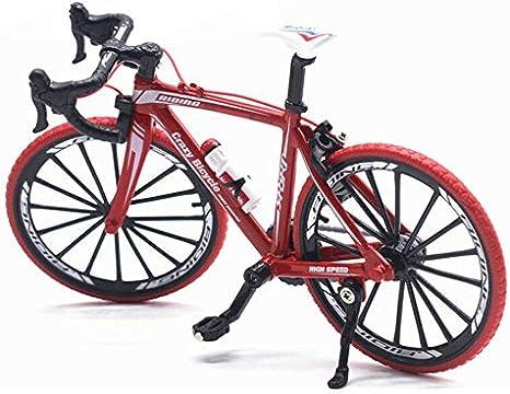 1:10 Aleación Diecast Metal Bicicleta Bicicleta de Carretera Modelo Ciclismo Juguetes para niños Regalos Vehículos de Juguete para niños-Rojo: Amazon.es: Deportes y aire libre