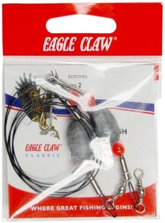 Eagle Claw LRRGS1-2 Lazer Ready Gulf Steel 8//0 Hook 2oz Terminal Fishing Rig
