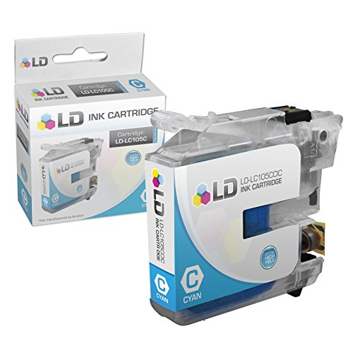 LD © Brother Compatible LC105 Set of 6 Ink Cartridges: 2 each of LC105C Cyan / LC105M Magenta / LC105Y Yellow for use in MFC-J4310DW, MFC-J4410DW, MFC-J4510DW, MFC-4610DW & MFC-J4710DW Printers Photo #3