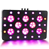 Ledgle LED Plant Grow Light 63x5W(315W) Actual Power, Full Spectrum LED Grow Light with UV/IR, 3 Dimmers Basic/Veg/Bloom for Indoor Greenhouse Garden Hydroponics