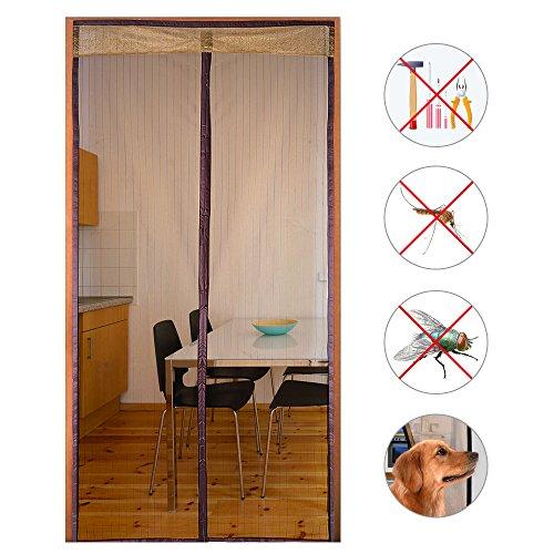 Decha Reinforced Mesh Magnetic Screen Mesh Door Full Frame Velcro Fit Door Up To 35''x83'' by Decha