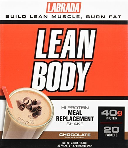 Labrada Nutrition Lean Body Hi-Protein Meal Replacement Shake, Chocolate Ice Cream, 2.78-Ounce Packets, 20-Count by Labrada