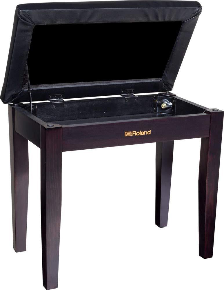 Roland Rpb-100Rw Jardinera Banco De Piano En Palisandro Con Compartimento De Almacenamiento