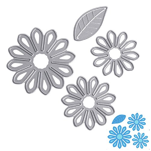 Flower Petal Stencil (LIYUDL 4X Petals Metal Cutting Dies Stencils Scrapbooking Embossing Album Paper Card Craft DIY Gift)