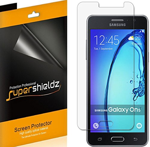 [6-Pack] Supershieldz for Samsung Galaxy On5 Screen Protector, Anti-Bubble High Definition Clear Shield + Lifetime Replacements Warranty- Retail Packaging  samsung on5 screen protector | Samsung ON5 Pro – How to fix glass on screen for protection 5195w1UWYML