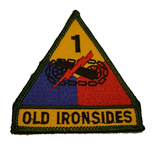 - ARMY 1ST ARMORED DIVISION OLD IRONSIDES Shoulder Style PATCH - Color - Veteran Owned Business.