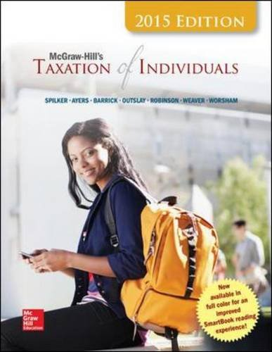 McGraw-Hill's Taxation Of Individuals, 2015 Edition (Irwin Accounting)
