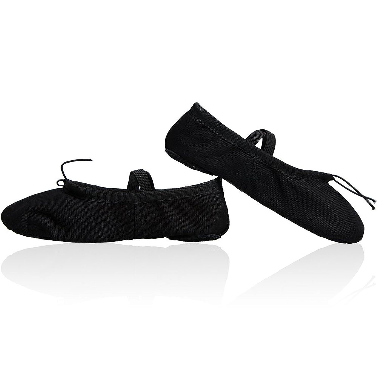 Amazon.com: Ballet Slippers Shoes Split Sole Ballet Flats Canvas Dance  Gymnastics Yoga Shoes Flats for Womens: Clothing