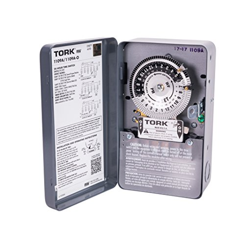 (NSi Industries TORK 1109A Indoor 40-Amp Multi-Volt Mechanical Lighting and Appliance Timer - 24-Hour Programming - Multiple On/Off Settings - 120/208-277-Volt -)