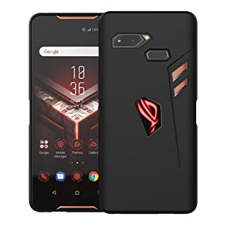 Orzero TPU Case for ASUS ROG Phone (Not fit for Rog Phone 2 2019) Soft Slim with RGB Logo Cutout Full Protection (Lifetime Replacement)-Matte Black