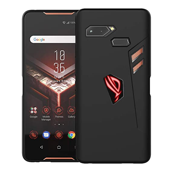 Orzero TPU Case for ASUS ROG Phone Soft Slim with RGB Logo Cutout Full  Protection [ Lifetime Replacement Warranty ]-Matte Black