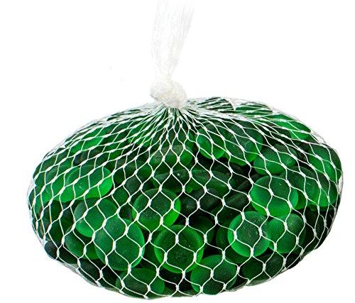 Supermoss (24133) Soft Glass Pebbles Vase Filler, 2lb, Emerald Green