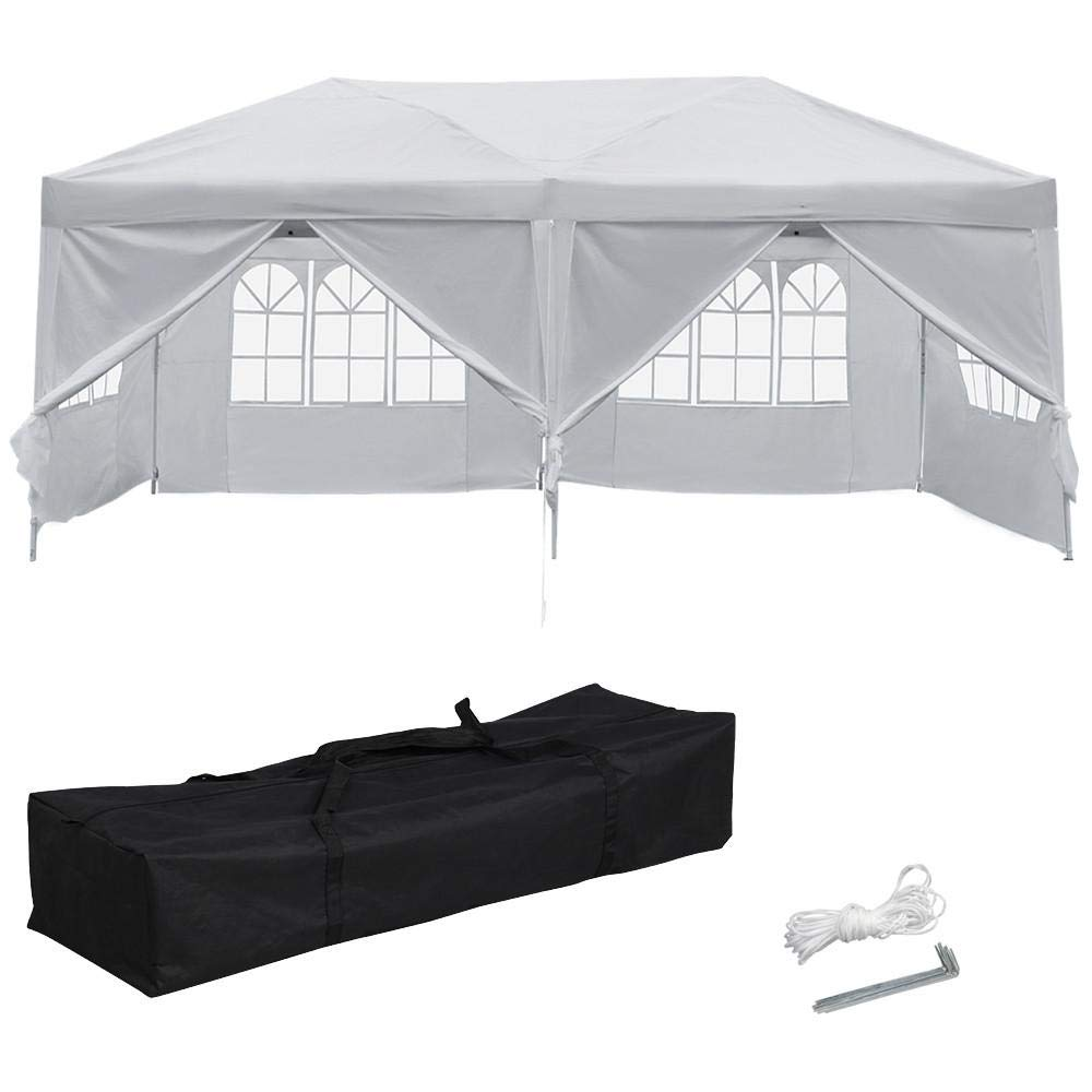 Yaheetech 10 x 20' Pop Up Canopy Tent Heavy Duty Gazebo Party Commercial Waterproof Tent Canopies Camping Outdoor Patio Shelter