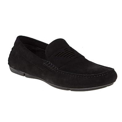75645ddf8c Amazon.com   Emporio Armani Men's Logo Penny Loafer   Loafers & Slip-Ons