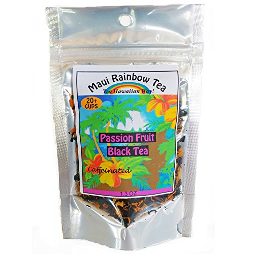 Passion Fruit Black Tea 20-cup Package • Gourmet Hawaiian Loose Leaf Tea by Maui Rainbow Tea • Great as hot tea or iced tea