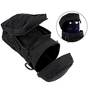 Sportsun Compatible Water Bottle Pouch Molle Loops High Quality Polyester Lightweight Compact Unisex 100% Brand New Modern Design Black