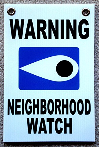(1 Pcs Imposing Unique Warning Neighborhood Watch Sign Security Declare Surveillance Fence Property Home Premises Hour Yard Signs Burglar Protect Poster Under Cameras Protected Size 8