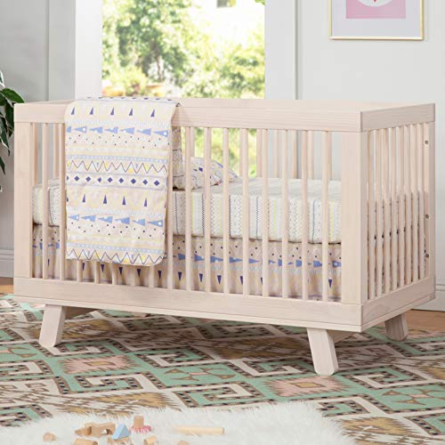 5195yDFOiAL - Babyletto Hudson 3-in-1 Convertible Crib With Toddler Bed Conversion Kit In Washed Natural, Greenguard Gold Certified