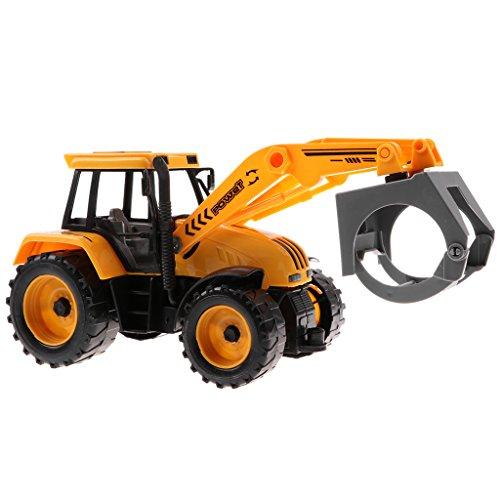 Homyl 1/30 Juguete de Modelo de Vehículo Diecast Ingeniería con Ruedas Blandas para Niño - B