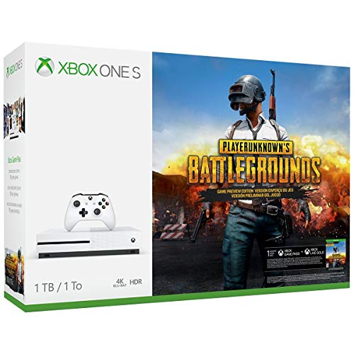 Xbox One S 1TB Console – PLAYERUNKNOWN'S BATTLEGROUNDS Bundle [Discontinued] (Renewed)