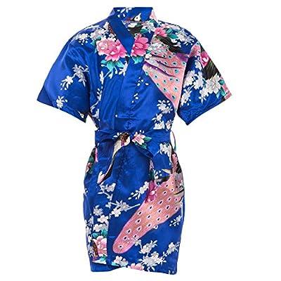 Mr & Mrs Right Kids' Satin Kimono Robe For Spa Party Wedding Birthday