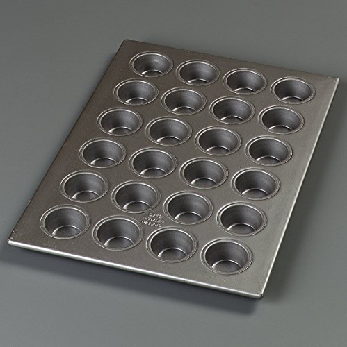 Carlisle 601829 Steeluminum 24 Cup Heavy Duty Mini Muffin/Cupcake Pan, 18'' Length x 13'' Width, 1.75-oz Capacity (Case of 6) by Carlisle (Image #3)