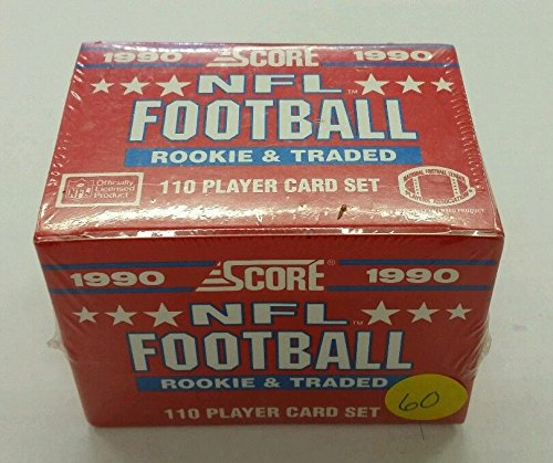 1990 SCORE NFL FOOTBALL ROOKIE & TRADED SEALED SET by SCORE