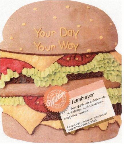 Wilton Hamburger Cheeseburger Sandwich Cake Pan (2105-3306, 1986) Retired