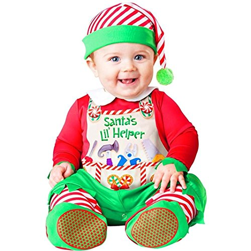 InCharacter Costumes Baby's Santa's Lil' Helper Costume, Red, Large