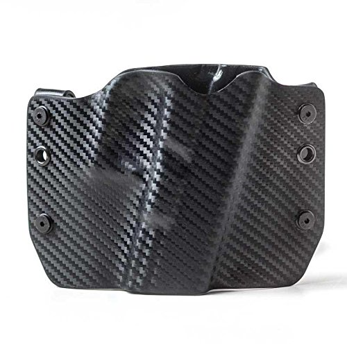 Black Carbon Fiber OWB Holster (Right-Hand, HK USP Compact - 9/40) ()
