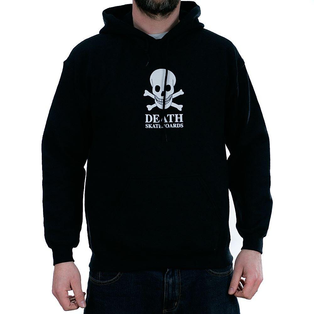 Death Skateboards Herren Sweatshirt Schwarz Schwarz One Größe